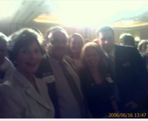 Laura Bush & Dr. Adam Z. Benjamin,