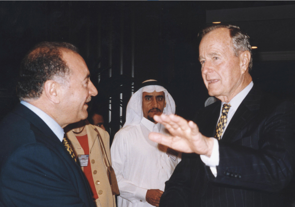 Nadhmi Auchi and President Goerge H. W. Bush